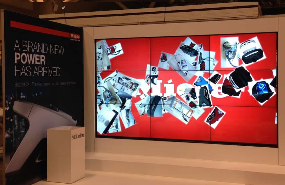 NEC TV Screens, LCD video wall, audio visual production, tradeshow, LCD TVs