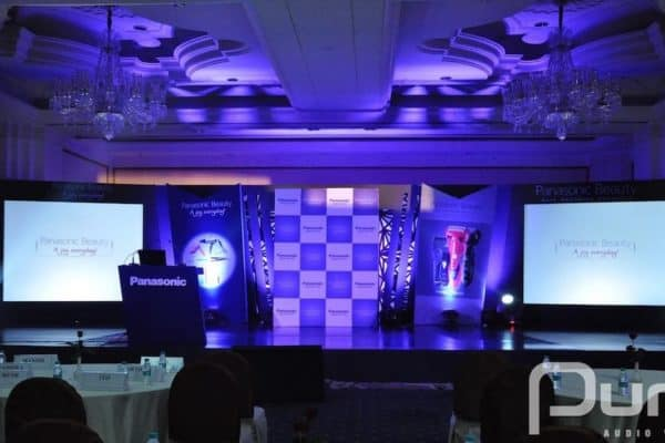 Conference, Projector, Screen, Speakers, Uplights, Christie 20k, Christie 10k, Christie 15k, MH3 Beams, Moving Heads, Uplights