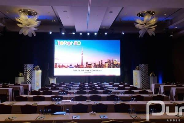 LED Video Wall, Conference, LED Screen, 4mm LED Panels, 4mm LED Wall, Drape, Wash Lights