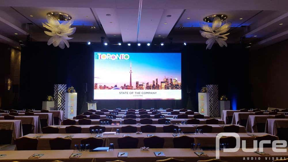LED Video Wall, Conference, LED Screen, 4mm LED Panels, 4mm LED Wall, Drape, Wash Lights