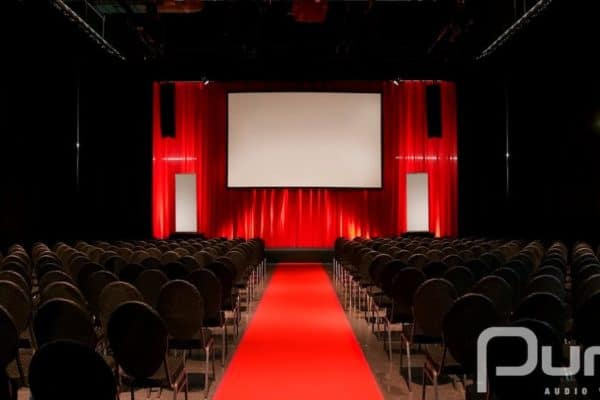 Conference, Projector, Screen, Line Array, Uplights, Christie 20k, Christie 10k, Christie 15k