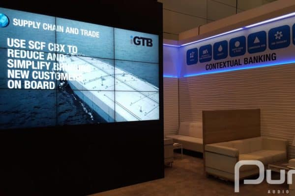 NEC TV Screens, LCD video wall, audio visual production, tradeshow, LCD TVs