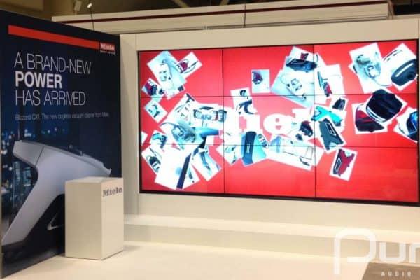 LCD Video Wall At Tradeshow