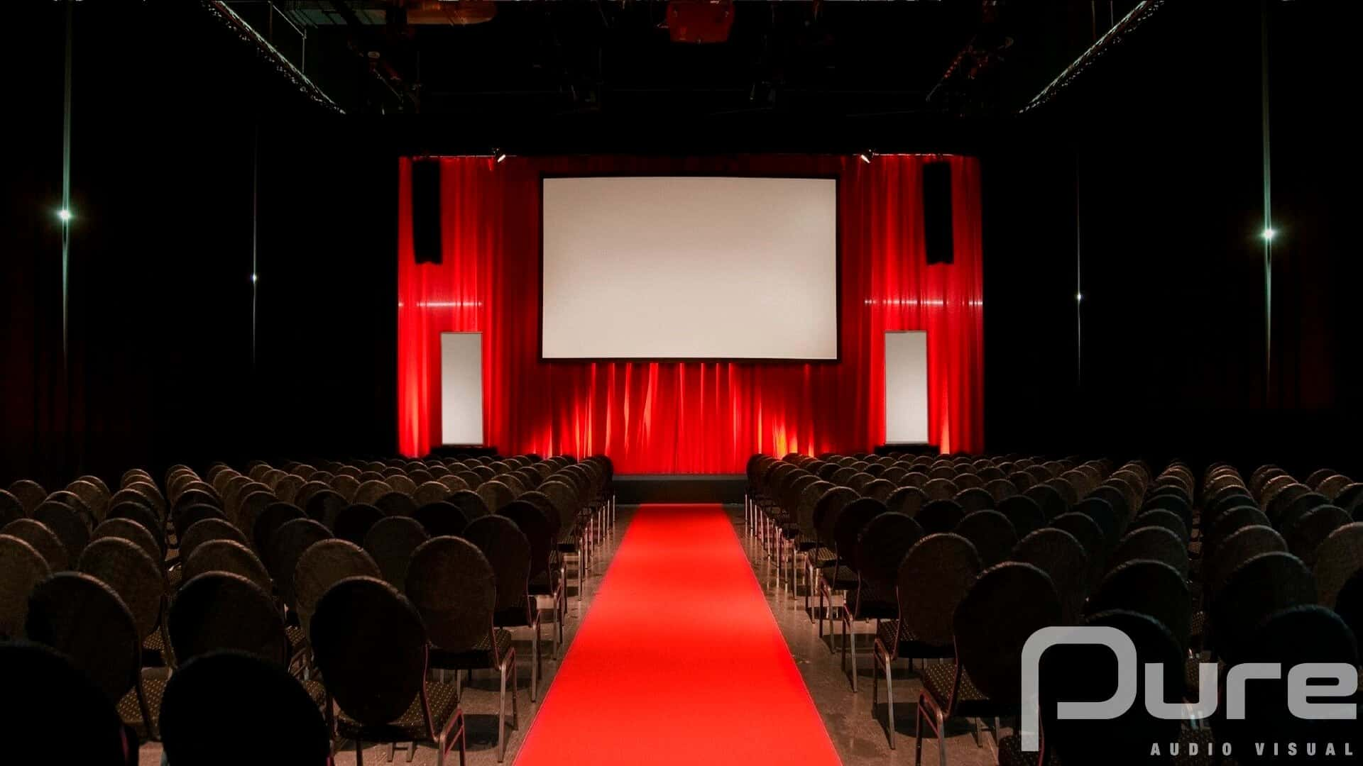 Projector, Projector Screen, Line Array, Drape. AV Company, Audio Visual Production