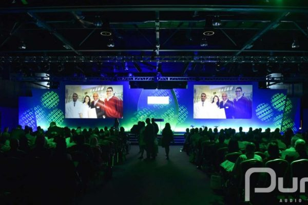 Conference, Hard Set, AV Production, Audio Visual Production, Moving Heads, Truss, Lighting, Projectors, Screens