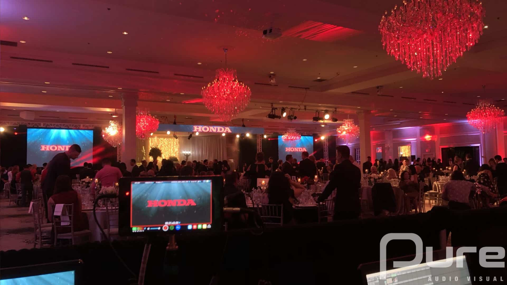 Audio Visual Production Including LED Video. Lighting. Audio, truss, staging.