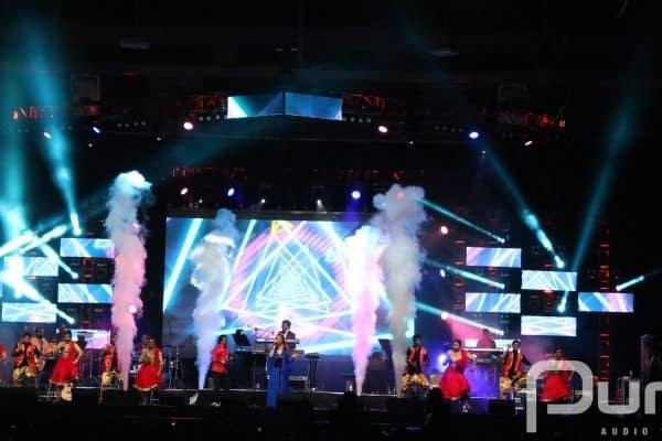 Concert, AV Production, Audio Visual Production, Co2 Jets, LED Panels, Moving Heads, Truss, Lighting