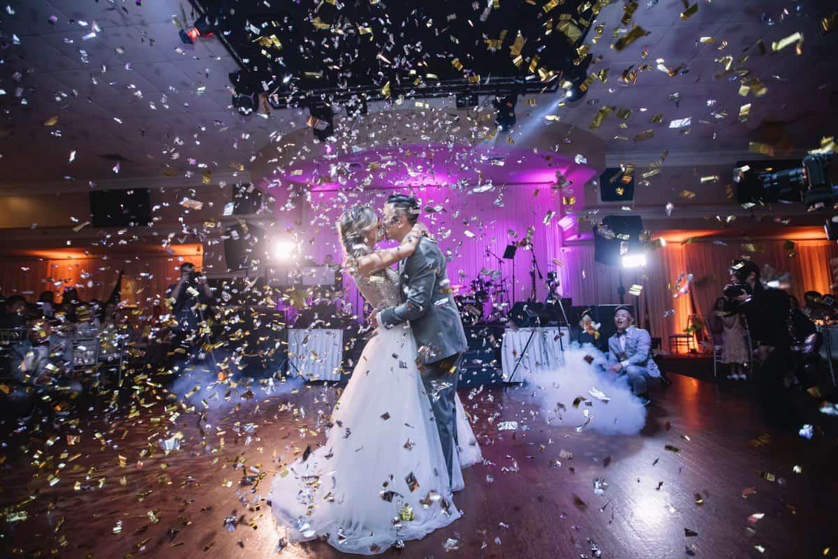 confetti wedding rental