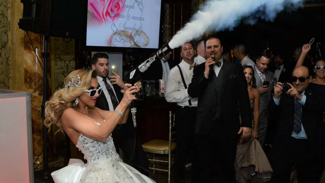 co2 blasts at wedding