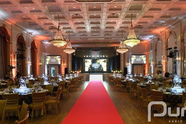 AV, AV Production, Uplights, Projectors, LED Video Wall, LED Wall, Awards Gala