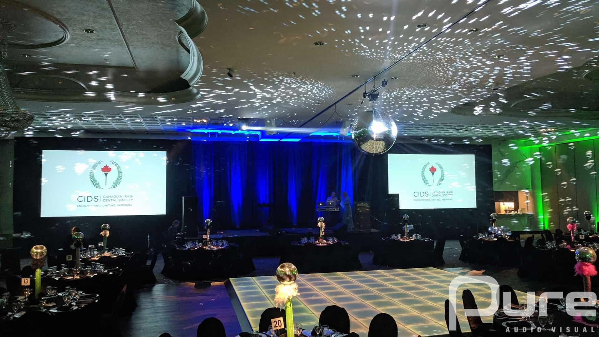 Gala, Corporate Event, Toronto AV, AV company, AV production, Projectors and Screens