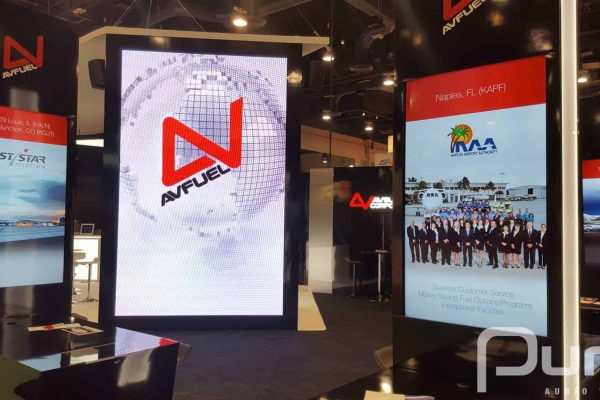 Large LED wall rental for trade show