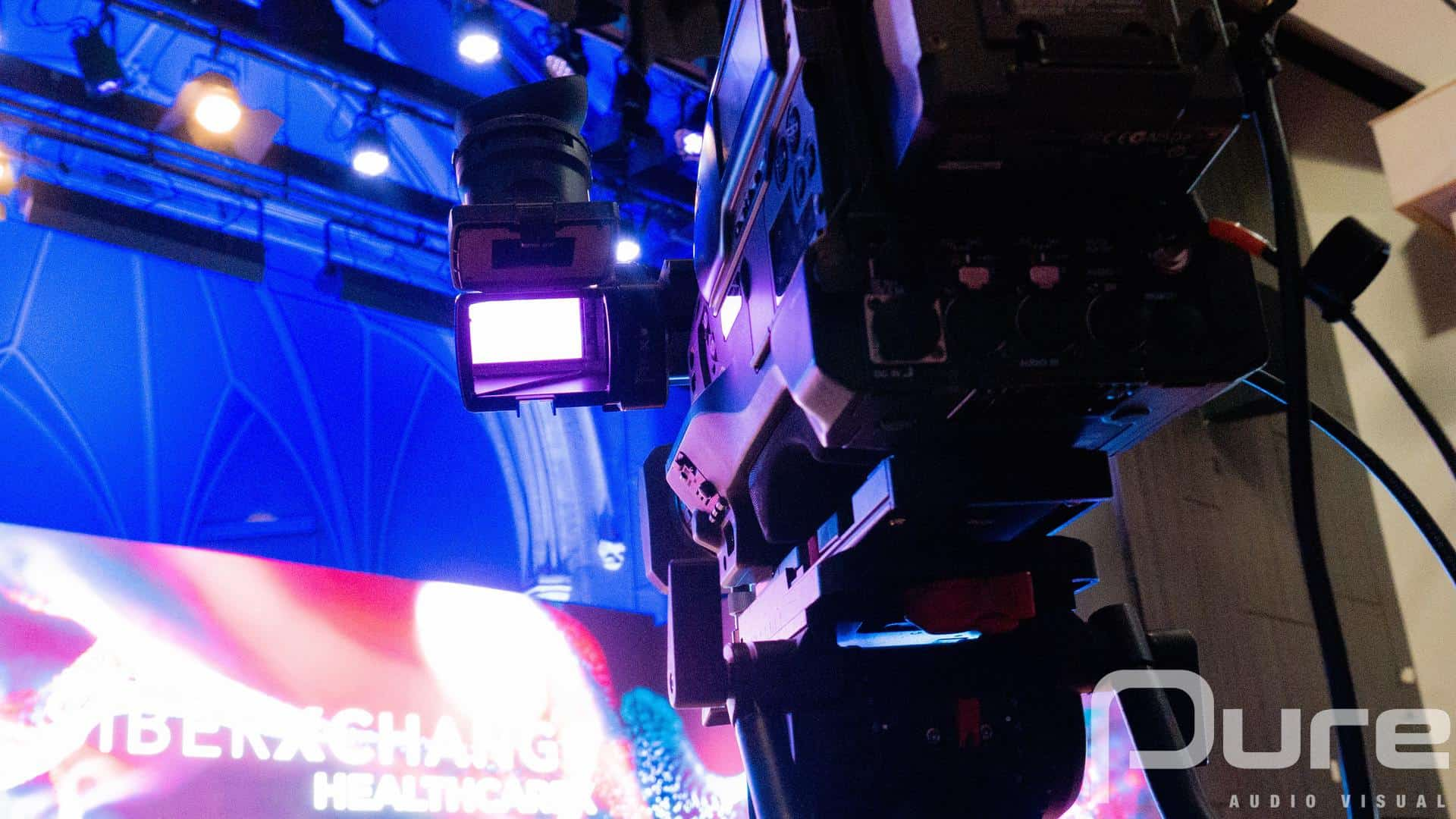 audio visual production for hybrid events