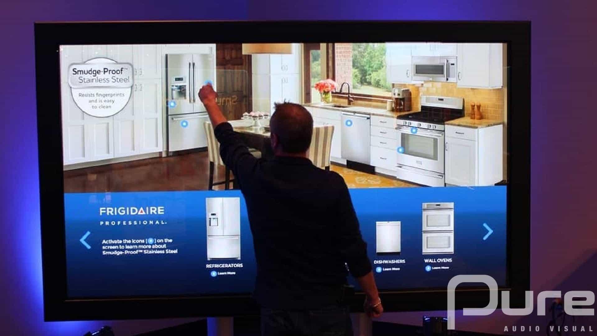 touchscreen TV rental company