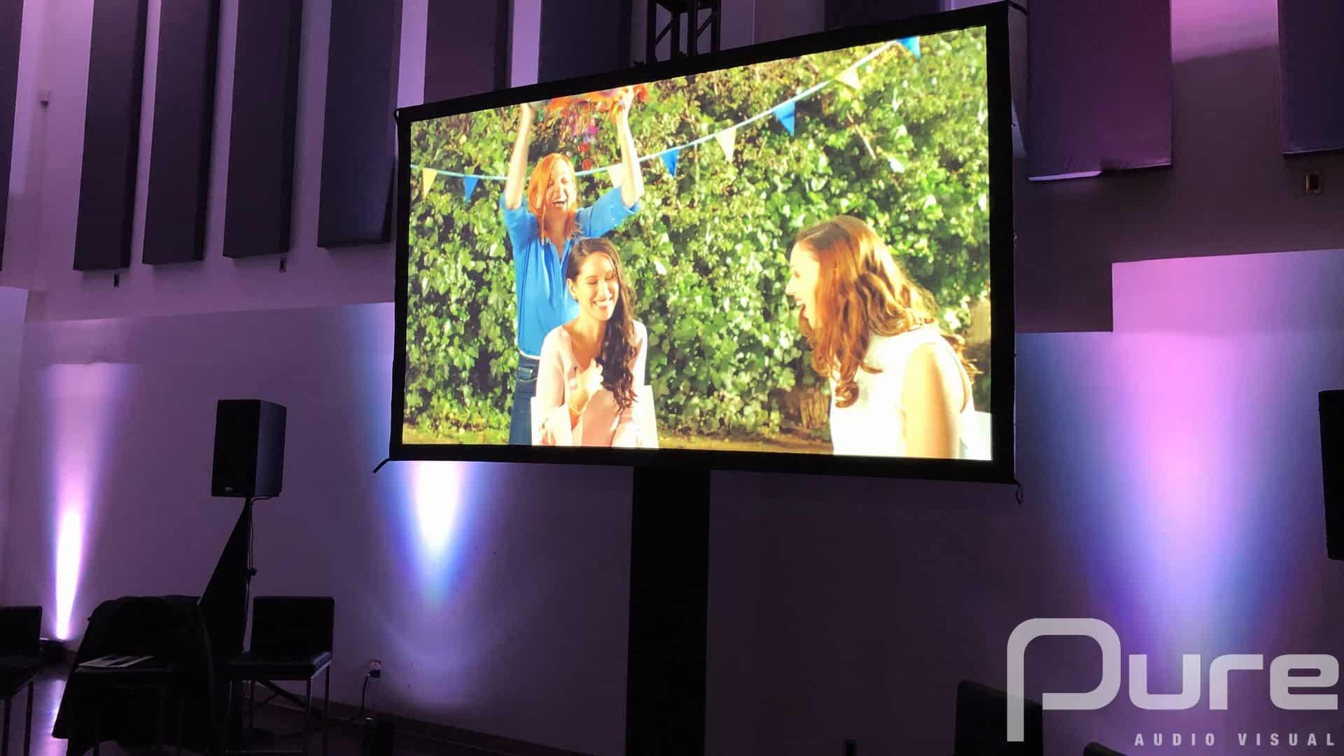 Corporate event screen projector rental