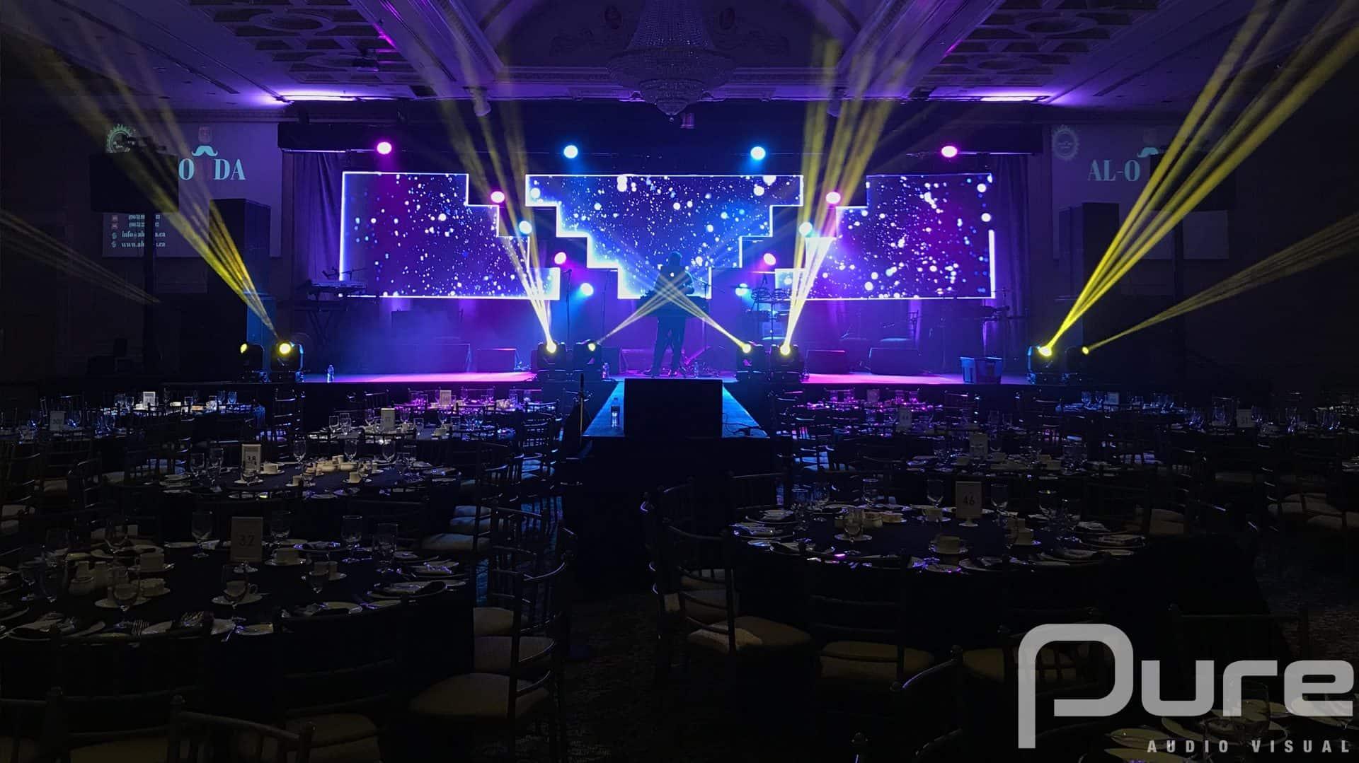 LEd video Wall. Lighting. AV Production Company