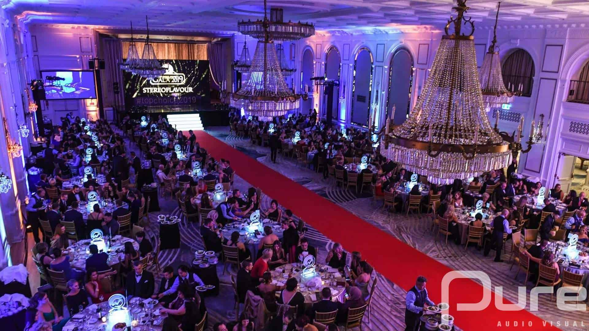 Corporate Awards Event. Audio Visual Services
