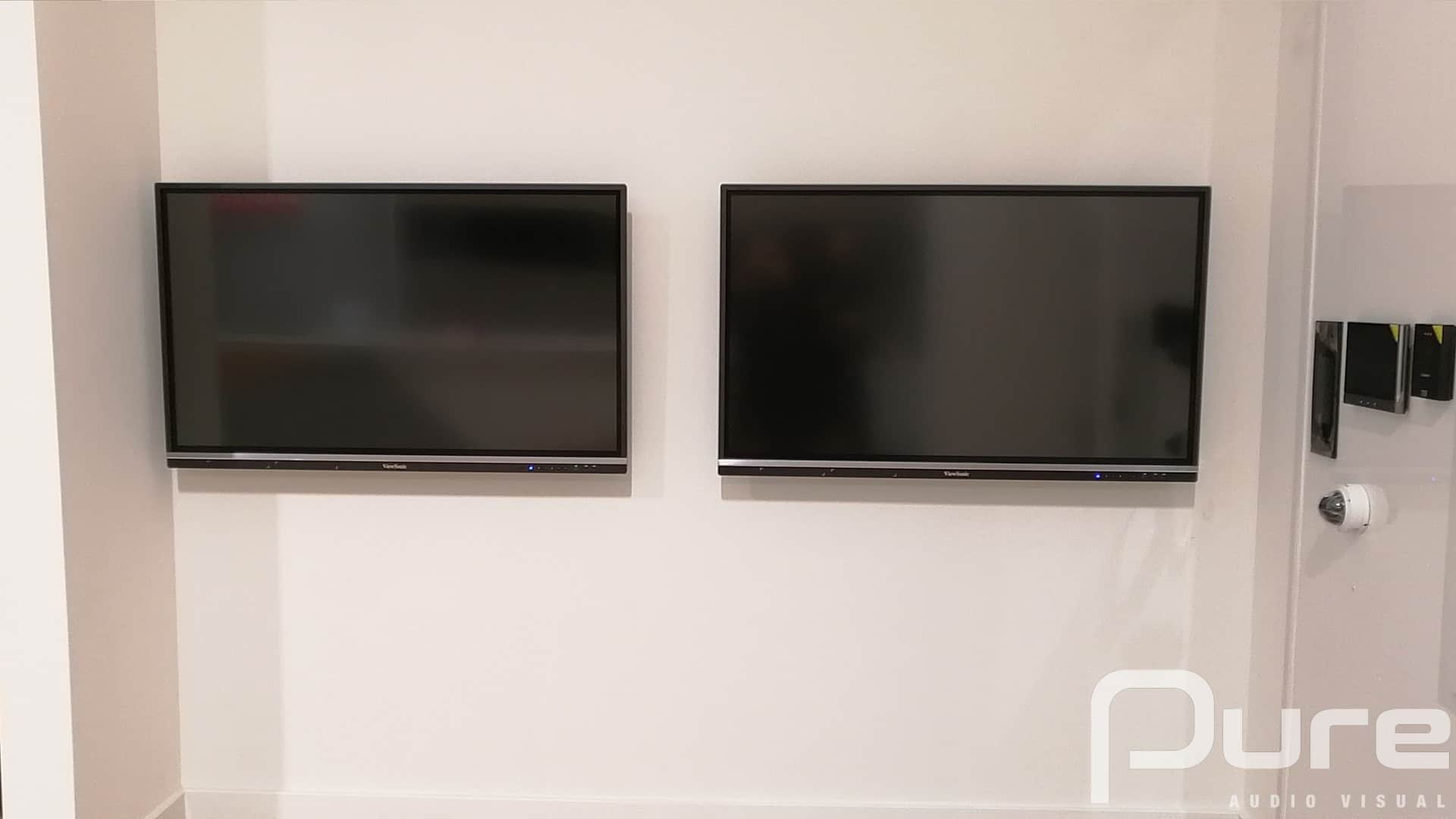 Touch display audio visual install