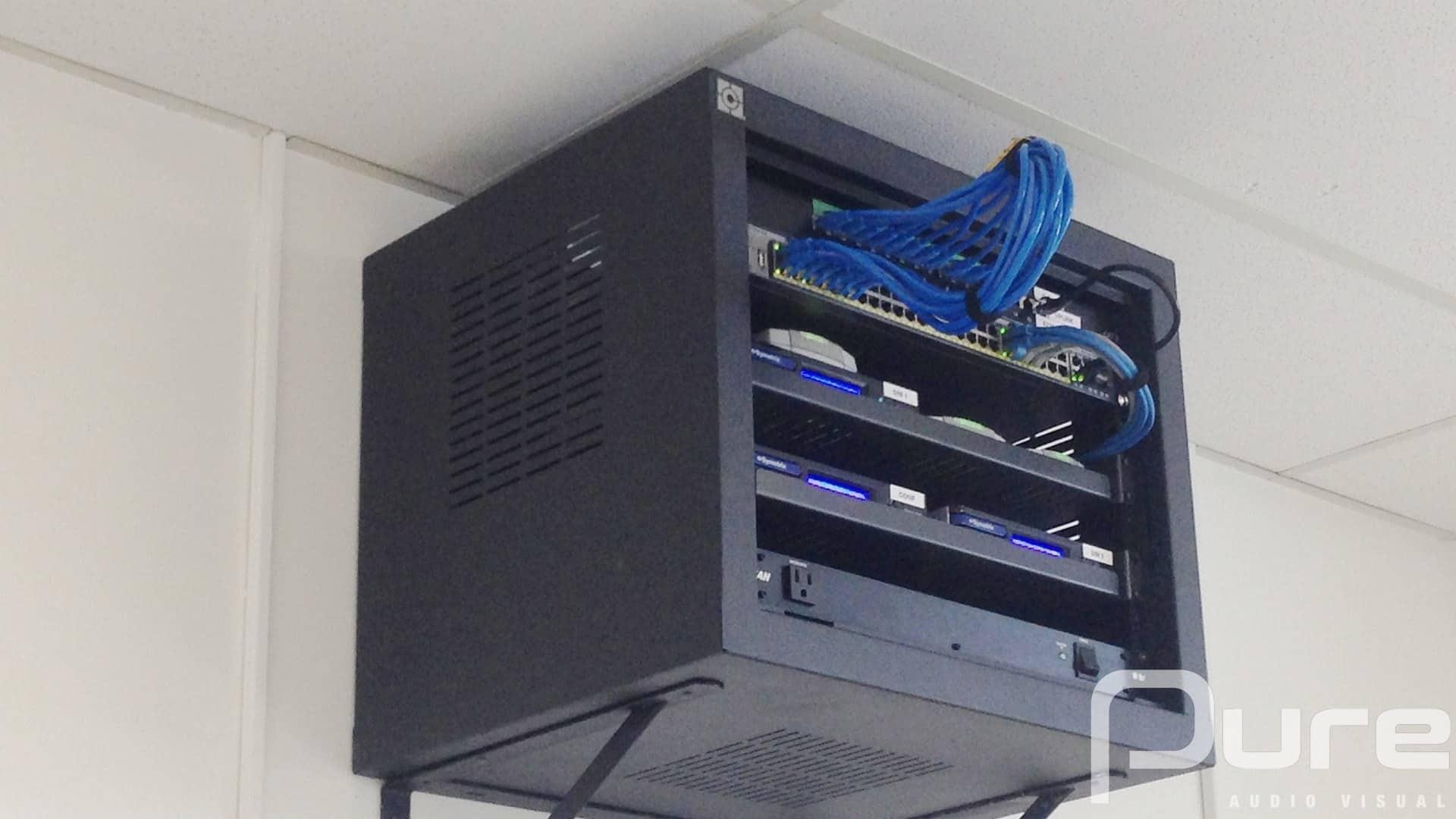 audio visual rack