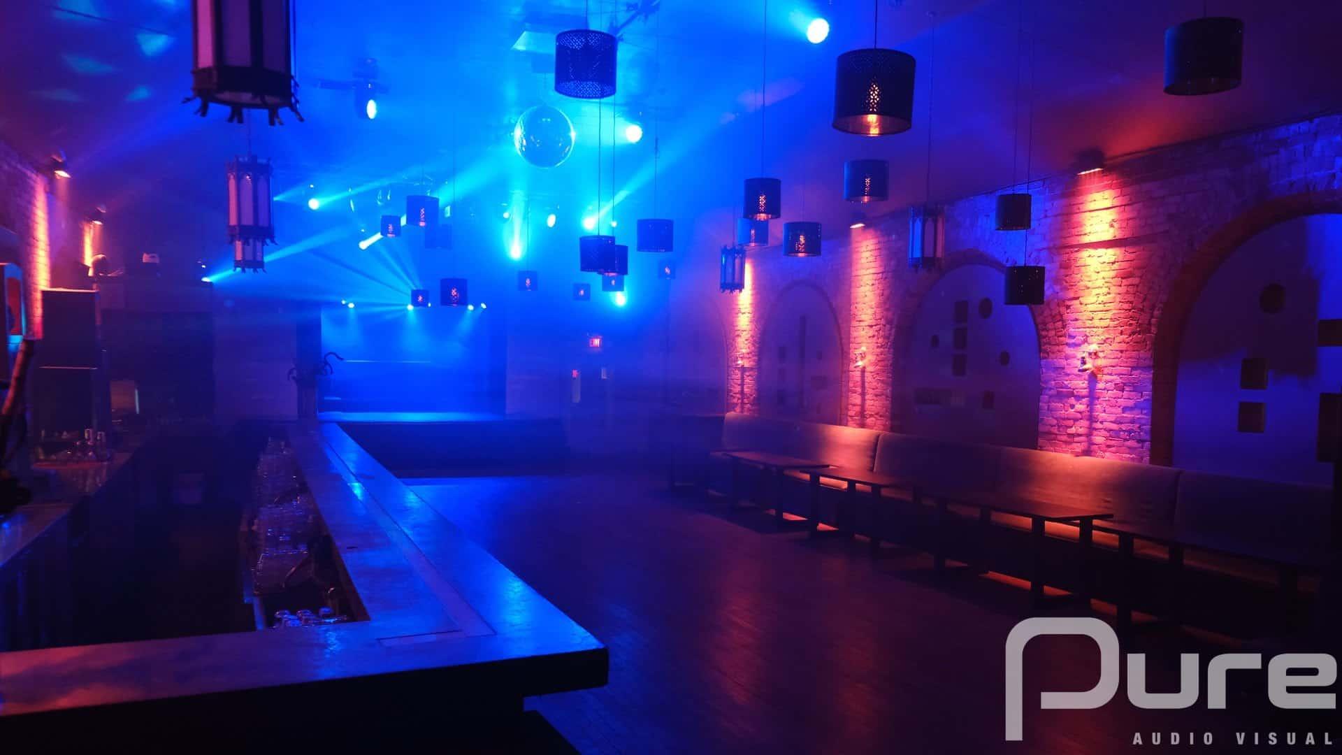 Bar Club Lighting installation
