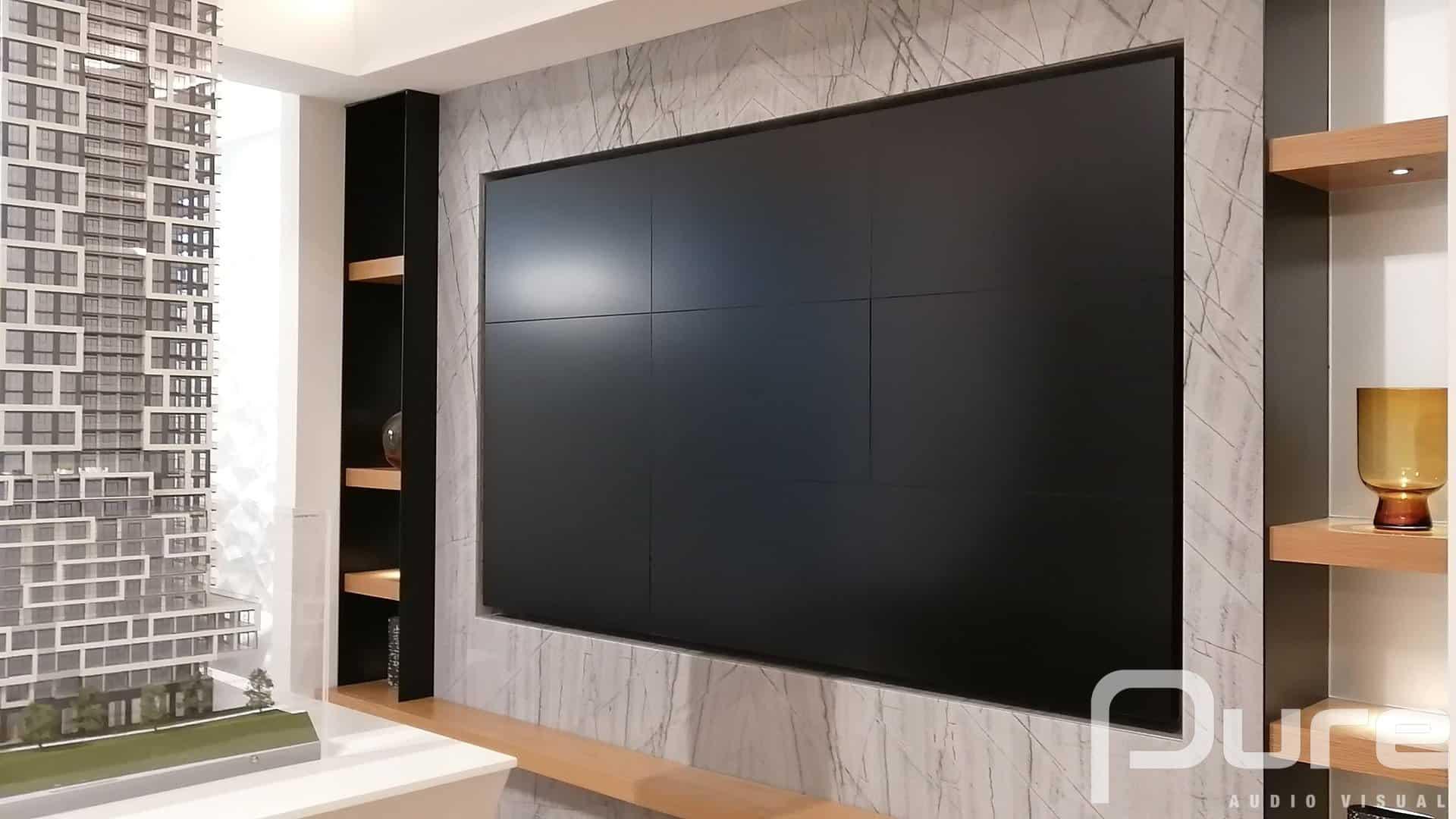 4K led wall installation