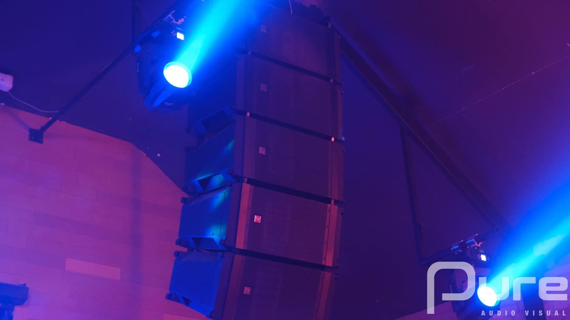lighting installation for event venue