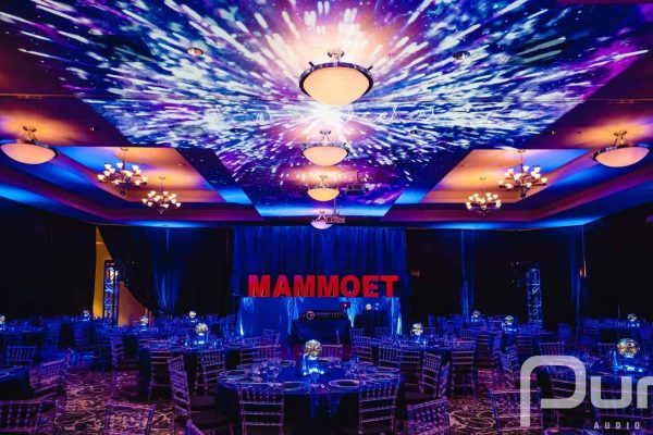 Corporate events projection mapping services