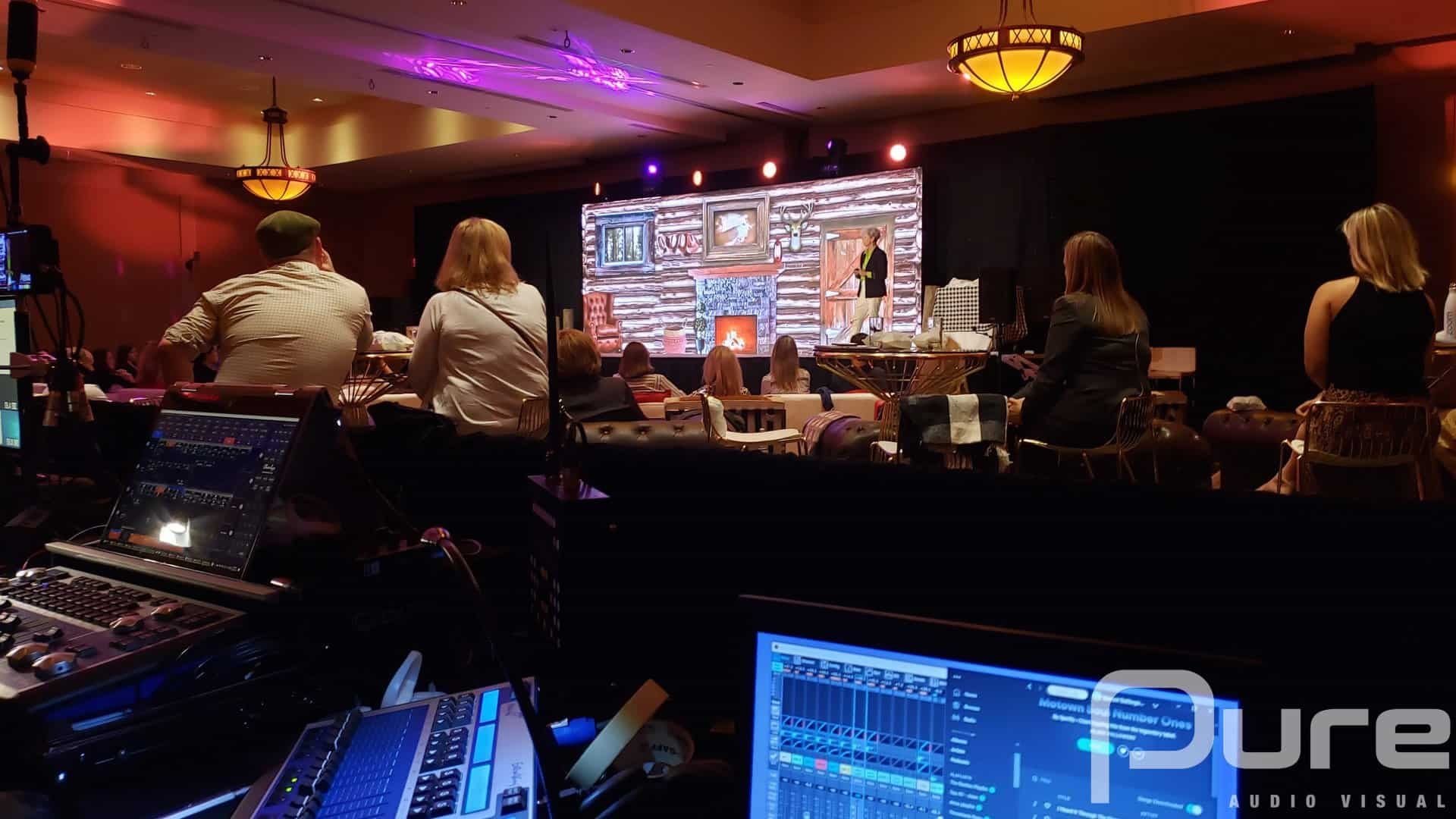 Corporate AGM audio, lighting and video services