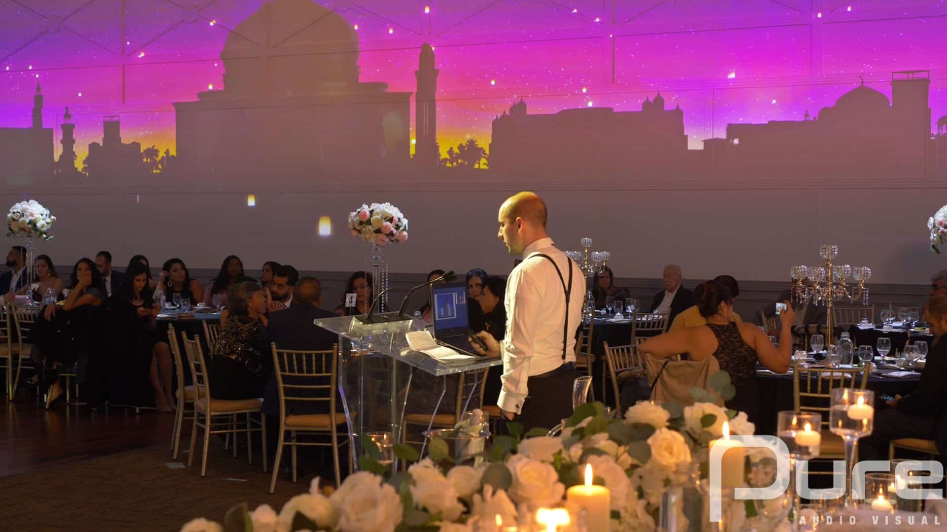 Wedding Projection mapping company